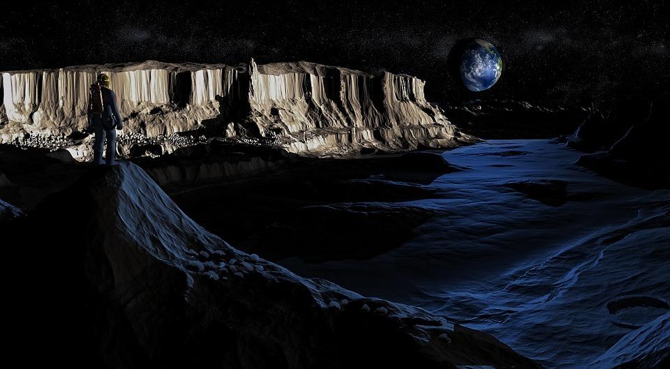 La lune, un astre mystérieux qui brille dans la nuit