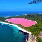 Le lac Hillier en Australie