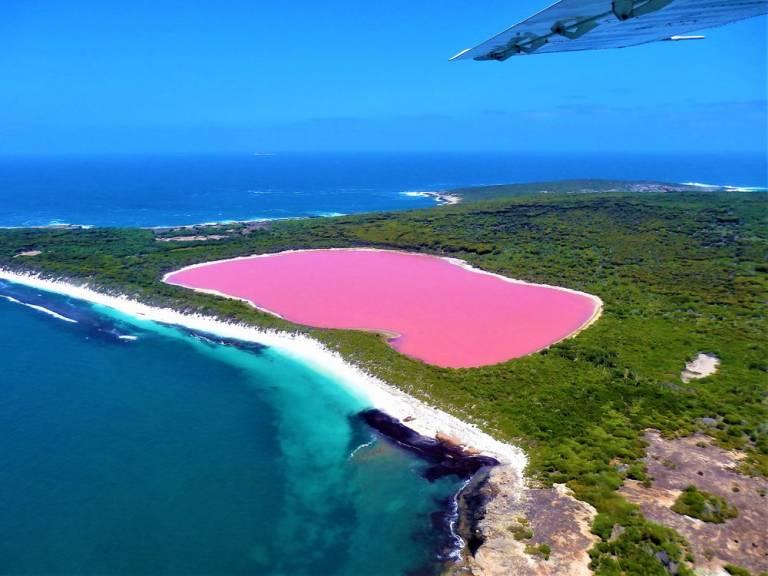 Le lac Hillier, cet étrange lac rose australien !