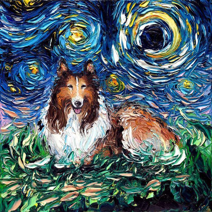 Van Gogh dans de sublimes portraits modernes de chiens