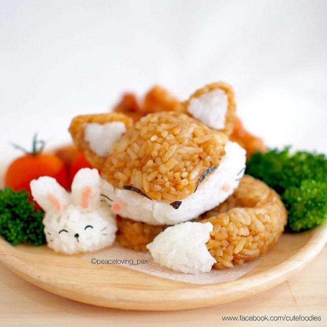 Du riz devient des créations culinaires