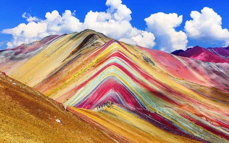 La montagne Vinicunca ou Rainbow Mountain au Pérou