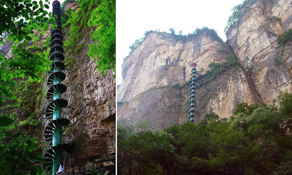 L'escalier en spirale des montagnes Chinoises