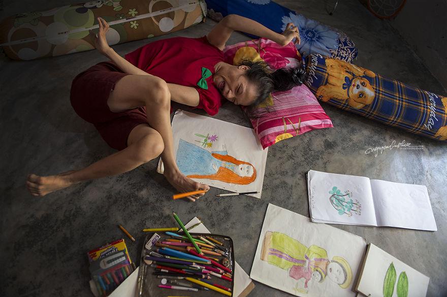 Handicapée mais artiste au grand talent