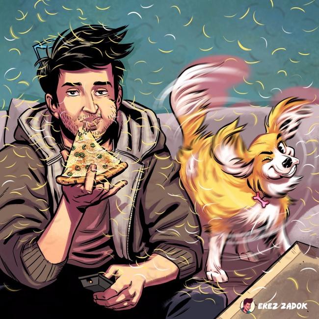 Vivre avec un chien en illustrations, c'est assez drôle!