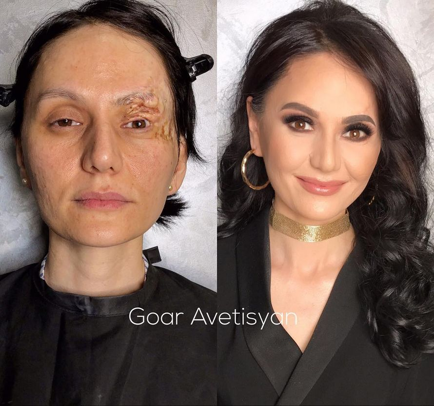Le maquillage et l'incroyable transformation