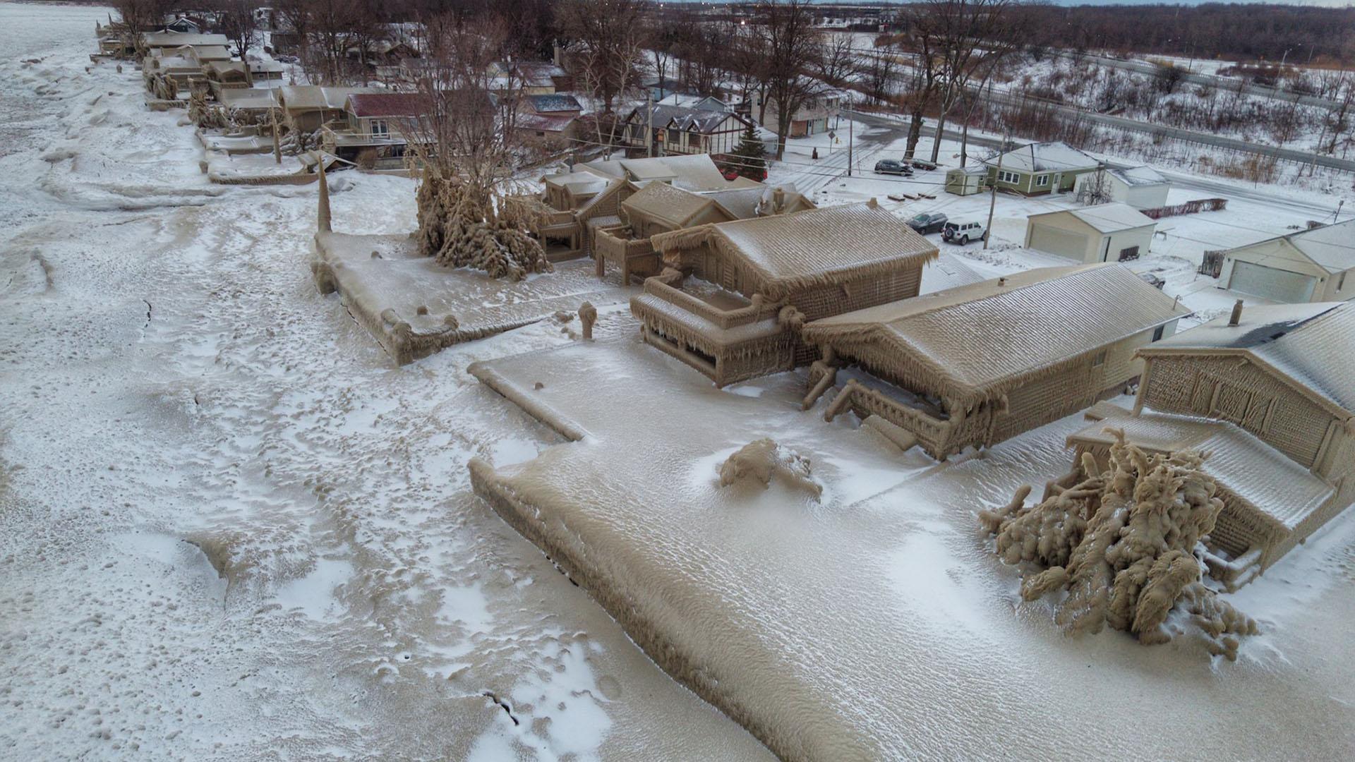 Les maisons de glace du lac Érié