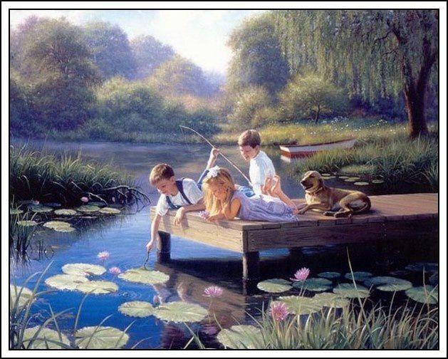 Donald Zolan et ses superbes tableaux d'enfants (pps)