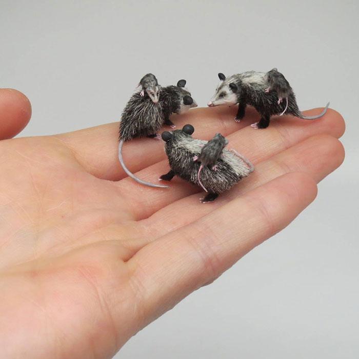 Les animaux miniatures de Fanni Sandor sont supers!