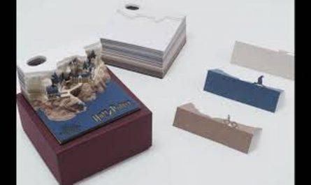 Le château Poudlard dans un bloc-notes