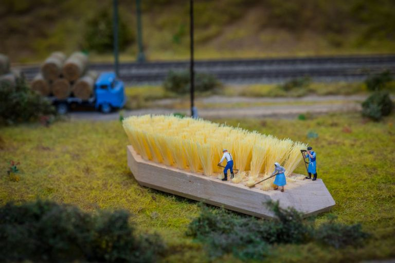 Le monde miniature d'un artiste