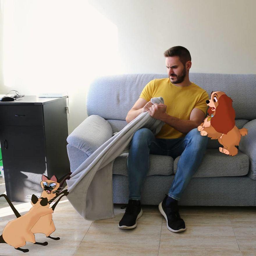 Les personnages de Disney dans sa vie grâce à Photoshop