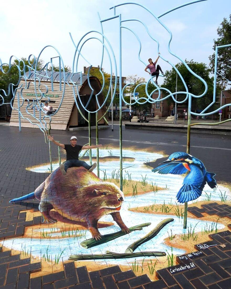 Street-art en 3D et superbes illusions d'optique