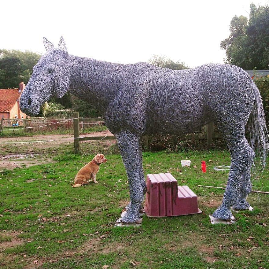 Les sculptures en fil de fer vraiment incroyables